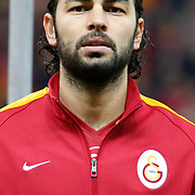 Galatasaray's Selcuk Inan during their Turkish superleague soccer derby match Galatasaray between Trabzonspor at the AliSamiYen spor kompleksi TT Arena in Istanbul Turkey on Saturday, 22 November 2014. Photo by Aykut AKICI/TURKPIX