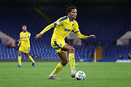 AFC Wimbledon defender Toby Sibbick (20) dribbling during the EFL Trophy match between U21 Chelsea and AFC Wimbledon at Stamford Bridge, London, England on 4 December 2018.
