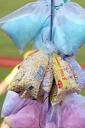 11 July 2012:   Cotton Candy and popcorn during the Frontier League All Star Baseball game at Corn Crib Stadium on the campus of Heartland Community College in Normal Illinois