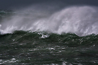Wild Winters Storm lashing the coastline with heavy waves, Cape Agulhas, Western Cape, South Africa