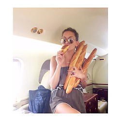 """Kate Hudson releases a photo on Instagram with the following caption: """"#tbt To that time when I had hair and a carb loading attack whilst leaving France.... #CouldntLeaveFranceWithoutThem \ud83c\udf5e\ud83d\ude1c"""". Photo Credit: Instagram *** No USA Distribution *** For Editorial Use Only *** Not to be Published in Books or Photo Books ***  Please note: Fees charged by the agency are for the agency's services only, and do not, nor are they intended to, convey to the user any ownership of Copyright or License in the material. The agency does not claim any ownership including but not limited to Copyright or License in the attached material. By publishing this material you expressly agree to indemnify and to hold the agency and its directors, shareholders and employees harmless from any loss, claims, damages, demands, expenses (including legal fees), or any causes of action or allegation against the agency arising out of or connected in any way with publication of the material."""