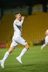 Livingston Lyndon Dykes celebrates after scoring their second goal. Livingston 3 v 1 Raith Rovers, William Hill Scottish Cup played 18/1/2020 at the Livingston home ground, Tony Macaroni Arena.