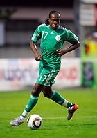 Fotball<br /> Nigeria v Saudi Arabia<br /> Wattens Østerrike<br /> 25.05.2010<br /> Foto: Gepa/Digitalsport<br /> NORWAY ONLY<br /> <br /> FIFA Weltmeisterschaft 2010 in Suedafrika, Vorberichte, Vorbereitung, Vorbereitungsspiel, Freundschaftsspiel, Laenderspiel, Nigeria vs Saudi-Arabien. <br /> <br /> Bild zeigt Chidi Odiah (NGR)