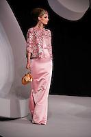 Linda Vojtova walks the runway  at the Christian Dior Cruise Collection 2008 Fashion Show