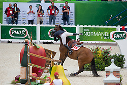 Raena Leung, (HKG), Orphee Du Granit - Team & Individual Competition Jumping Speed - Alltech FEI World Equestrian Games™ 2014 - Normandy, France.<br /> © Hippo Foto Team - Leanjo De Koster<br /> 02-09-14