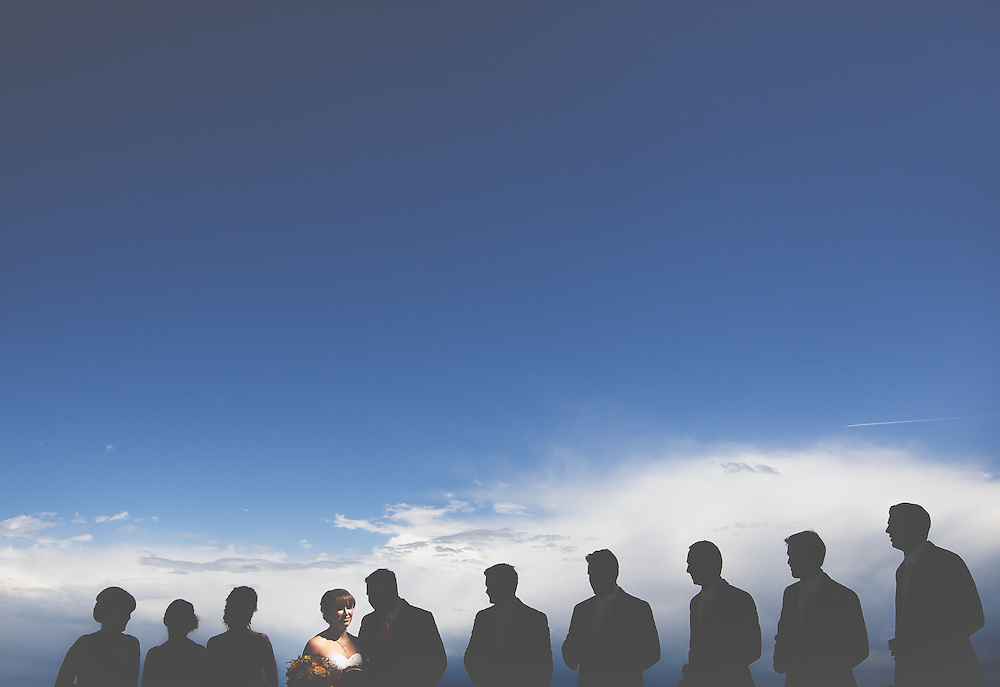 Wedding Photos by Connie Roberts Photography<br /> Wedding Party in light and shadows