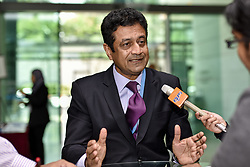 April 4, 2017 - Secretary-General, Islamic Financial Service Board Mr. Jaseem Ahmed speaks with press during IFSB Annual Meetings 2017 on April 04 2017 in Kuala Lumpur, Malaysia. The event will be held until April 06 2017. .The IFSB(Islamic Financial Services Board) Annual Meetings and Side Events 2017 is jointly hosted by the Central Bank of the Islamic Republic of Iran and Bank Negara Malaysia. (Credit Image: © Chris Jung via ZUMA Wire)