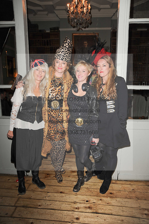 Left to right, DI TEMPERLEY and her daughters ALICE TEMPERLEY, MATHILDA TEMPERLEY and MARY TEMPERLEY at a party to celebrate the 1st anniversary of Alice Temperley's label held at Paradise, Kensal Green, London W10 on 25th November 2010.