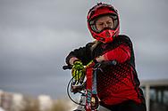 #374 (BURBIDGE-SMITH Harriet) AUS at the 2018 UCI BMX Superscross World Cup in Saint-Quentin-En-Yvelines, France.