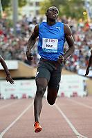 Friidrett<br /> IAAF Diamond League<br /> Lausanne Sveits<br /> 08.07.2010<br /> Foto: EQ Images/Digitalsport<br /> NORWAY ONLY<br /> <br /> Usain Bolt (JAM)