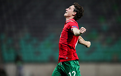 Bozhidar Kraev of Bulgaria celebrates after he scored first goal for Bulgaria during football match between National Teams of Slovenia and Bulgaria in Final Tournament of UEFA Nations League 2019, on September 6, 2018 in SRC Stozice, Ljubljana, Slovenia. Photo by Morgan Kristan / Sportida