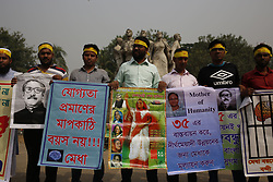 November 10, 2018 - Dhaka, Bangladesh - Students and government job seekers called a protest to demand increasing the age limit 35 for entry to public services in front of the Raju Memorial Sculpture near Dhaka University Campus. (Credit Image: © MD Mehedi Hasan/ZUMA Wire)