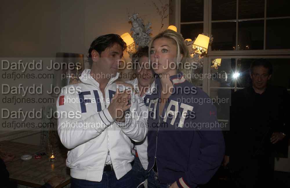 Tamara Beckwith, Georgio Veroni and Lapo Elkann at  Fiat Hydrogen launch at Sketch hosted by Lapo Elkann, SUPPLIED FOR ONE-TIME USE ONLY> DO NOT ARCHIVE. © Copyright Photograph by Dafydd Jones 66 Stockwell Park Rd. London SW9 0DA Tel 020 7733 0108 www.dafjones.com