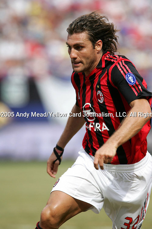 31 July 2005: Christian Vieri. Chelsea FC of England and AC Milan of Spain tied 1-1 at Giants Stadium in East Rutherford, New Jersey in an international friendly soccer match as part of AEG's 2005 World Series of Football. .