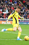 Charlton Athletic goalkeeper Jed Steer (21)  during the EFL Sky Bet League 1 match between Barnsley and Charlton Athletic at Oakwell, Barnsley, England on 29 December 2018.