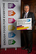 Andrew Jones MP supporting the Enough Food for Everyone?IF campaign. .MP's and Peers attended the parliamentary launch of the IF campaign in the State Rooms of Speakers House, Palace of Westminster. London, UK.