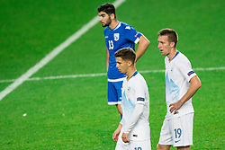 Luka Zahovic of Slovenia and Robert Beric of Slovenia after the football match between National Teams of Slovenia and Cyprus in Final Tournament of UEFA Nations League 2019, on October 16, 2018 in SRC Stozice, Ljubljana, Slovenia. Photo by Vid Ponikvar / Sportida