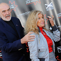 Stars turned out for the premier of Director Sam Mendes new film Away We Go which opened the 2009 Edinburgh Film Festival.  Pictured Sir Sean Connery with his wife Micheline Roquebrune.