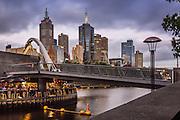 Melbourne Skyline and Southgate Bridge at Dusk