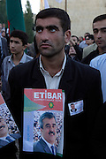 Baku, Azerbaijan, 11/10/2003..Opposition demonstration in support of the candidacy of National Independence Party leader Etibar Mammadov in forthcoming Presidential elections..........