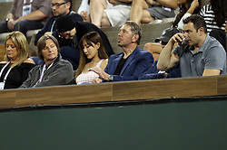March 12, 2018 - Indian Wells, California, United States Of America - INDIAN WELLS, CA - MARCH 12: Venus Williams and Serena Williams at their match against each other during the BNP Paribas Open at the Indian Wells Tennis Garden on March 12, 2018 in Indian Wells, California...People:  Larry Ellison. (Credit Image: © SMG via ZUMA Wire)