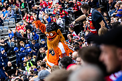 Philadelphia Flyers mascot during NHL game between teams Chicago Blackhawks and Philadelphia Flyers at NHL Global Series in Prague, O2 arena on 4th of October 2019, Prague, Czech Republic. Photo by Grega Valancic / Sportida