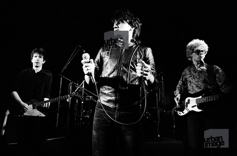 U2 - The Edge, Bono, Larry and Adam Clayton at a rehearsal session at Shepperton Studios - 1982