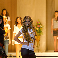 Participants attend the Miss Hungary 2010 beauty contest held in Budapest, Hungary on November 29, 2010. ATTILA VOLGYI