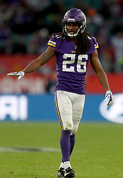 Minnesota Vikings' Trae Waynes during the International Series NFL match at Twickenham, London. PRESS ASSOCIATION Photo. Picture date: Sunday October 29, 2017. See PA story GRIDIRON London. Photo credit should read: Simon Cooper/PA Wire. RESTRICTIONS: News and Editorial use only. Commercial/Non-Editorial use requires prior written permission from the NFL. Digital use subject to reasonable number restriction and no video simulation of game.