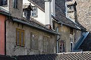 Building patterns in Schaffhausen, Switzerland, Europe.