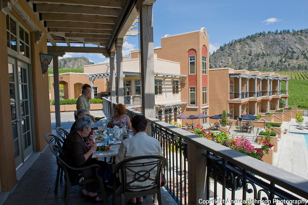 Sonora Restaurant at Burrowing Owl winery, Oliver, Okanagan, British Columbia, Canada