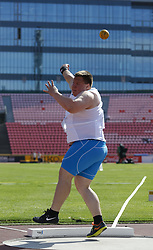 July 10, 2018 - Tampere, Suomi Finland - 180710 Friidrott, Junior-VM, Dag 1: Eero Ahola FIN competes in Shot put during the IAAF World U20 Championships day 1 at the Ratina stadion 10. July 2018 in Tampere, Finland. (Newspix24/Kalle Parkkinen) (Credit Image: © Kalle Parkkinen/Bildbyran via ZUMA Press)