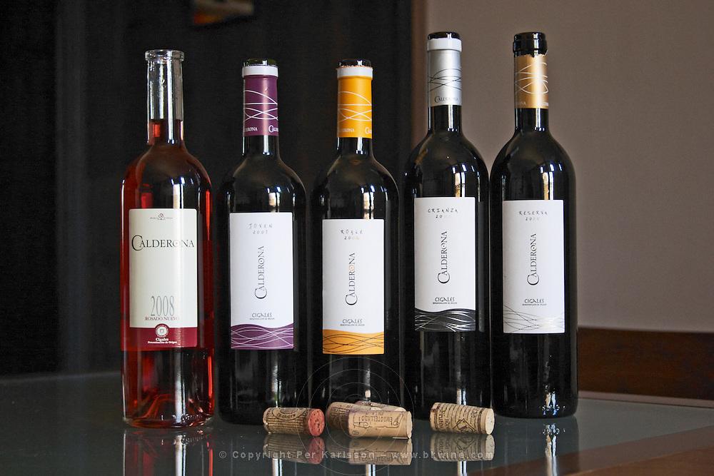roble 2006, crianza 2005, reserva 2005, rosado nuevo 2008, joven 2007 calderona bodegas frutos villar , cigales spain castile and leon