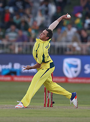 Chris Tremain of Australia during the 3rd ODI match between South Africa and Australia held at Kingsmead Stadium in Durban, Kwazulu Natal, South Africa on the 5th October  2016<br /> <br /> Photo by: Steve Haag/ RealTime Images