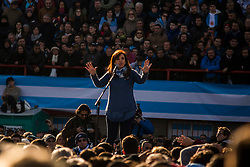 INT. June 20, 2017. Buenos Aires Province, Argentina. Former President Cristina Fernandez de Kirchner, presents Arsenal football Stadium, Buenos Aires Province, the Citizen Unit  -front that will compete in the upcoming legislative elections on October.