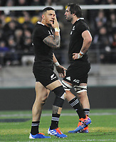 Rugby Union - 2019 Rugby Championship - New Zealand vs. South Africa<br /> <br /> Sonny Bill Williams of NZ gets a bloody eye, at Westpac Stadium, Wellington.<br /> <br /> COLORSPORT/ANDREW COWIE