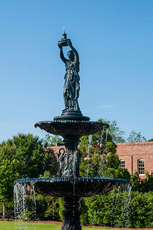 Water fountain in Madison Town Park in Madison, Georgia on Saturday, July 17, 2021. Copyright 2021 Jason Barnette