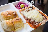 Pav bhaji with cheese at Elco Veg Restaurant on Hill Road in Bandra West, Mumbai, India