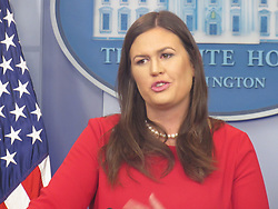 September 5, 2017 - Washington, DC, United States - Press Secretary Sarah Sanders holds the White House Press Briefing at the White House in Washington, DC amid DACA Decision on September 5, 2017. (Credit Image: © Kyle Mazza/NurPhoto via ZUMA Press)