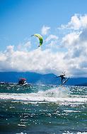 Tyler Brown kite surfs in Kings Beach