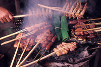 grilled skewered meats and fish- Vientiane, Laos  - Photograph by Owen Franken - Photograph by Owen Franken