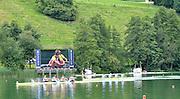 Lucerne, SWITZERLAND,  GBR M4- Gold Medalist, bow  Alex PARTRIDGE, Rick EGINGTON, Alex GREGORY and Matt LANGRIDGE, Third round of the  2009 FISA World Cup,  Rotsee Regatta Course, Sunday  12/07/2009 [Mandatory Credit Peter Spurrier/ Intersport Images].