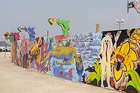 Mural Around Center Camp Various Artists