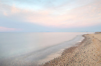 Lake Superior seen from beach at Whitefish Point Upper Peninsula Michigan