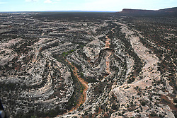 May 8, 2017 - Blanding, UT, United States of America - Aerial view of the Bears Ears National Monument as seen by U.S. Secretary of the Interior Ryan Zinke during a helicopter overflight of the vast preserve May 8, 2017 near Blanding, Utah. At the request of President Donald Trump the monument is under review and might lose protected status opening the way for mining and commercial use. (Credit Image: © Doi/Planet Pix via ZUMA Wire)