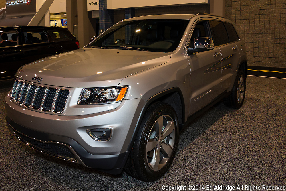 CHARLOTTE, NORTH CAROLINA - NOVEMBER 20, 2014: Jeep Grand Cherokee on display during the 2014 Charlotte International Auto Show at the Charlotte Convention Center.