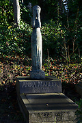 London  is the capital city of England and the United Kingdom.<br /> <br /> On the photo: Highgate Cemetery (EAST), the most famous cemetery in the north of the town center. Grave of Anna Mahler, sculptress and daughter of Gustav Mahler and Alma Schindler