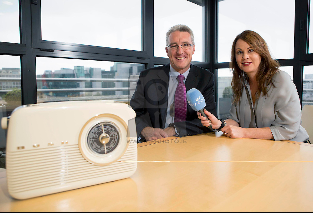 Repro Free: 19/10/2104 RTÉ Radio 1 announced Ulster Bank as the new sponsor of its Drivetime programme. Presented by Mary Wilson, Drivetime is Ireland's most popular national drivetime show and airs Monday to Friday from 4.30pm – 7pm. Pictured at the announcement is Eddie Cullen, Managing Director, Corporate & Institutional Banking, Ulster Bank with Tara Farrell, Sponsorship Manager, RTÉ Radio. Picture Andres Poveda