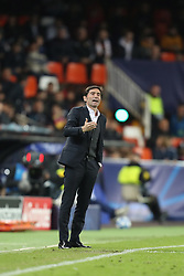 December 12, 2018 - Valencia, Spain - December 12, 2018 - Valencia, Spain - .Head coach Marcelino Garcia Toral of Valencia during the UEFA Champions League, Group H football match between Valencia CF and Manchester United on December 12, 2018 at Mestalla stadium in Valencia, Spain (Credit Image: © Manuel Blondeau via ZUMA Wire)