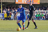 AFC Wimbledon midfielder Anthony Hartigan (8) dribbling during the EFL Sky Bet League 1 match between AFC Wimbledon and Charlton Athletic at the Cherry Red Records Stadium, Kingston, England on 23 February 2019.